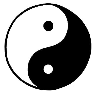 Obrázek monády - jin a jang se v tai chi vzájemně doplňují.